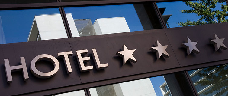 Hotel sign with four stars