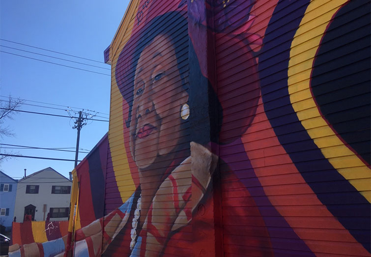 Mural of Dorothy I. Height in Congress Heights, Washington, D.C.