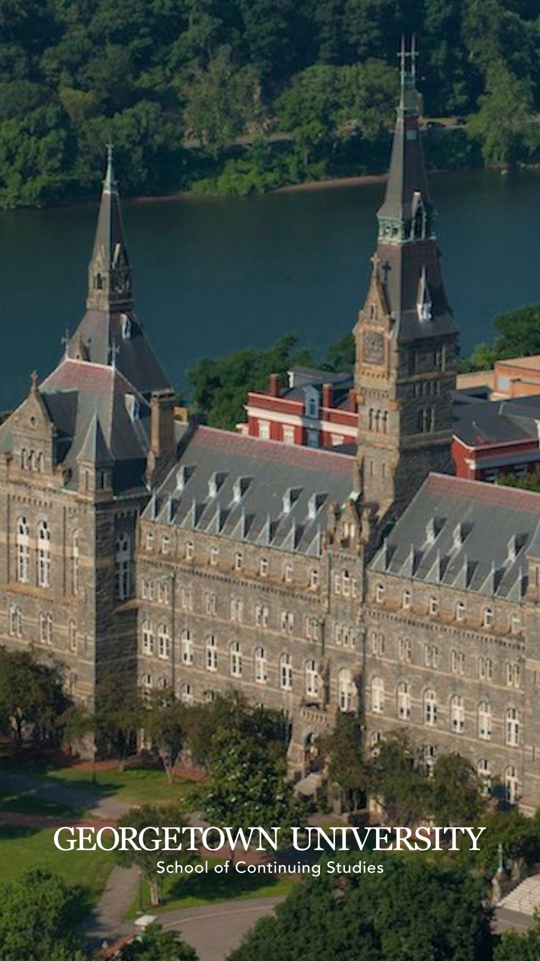 Healy Hall with Potomac River