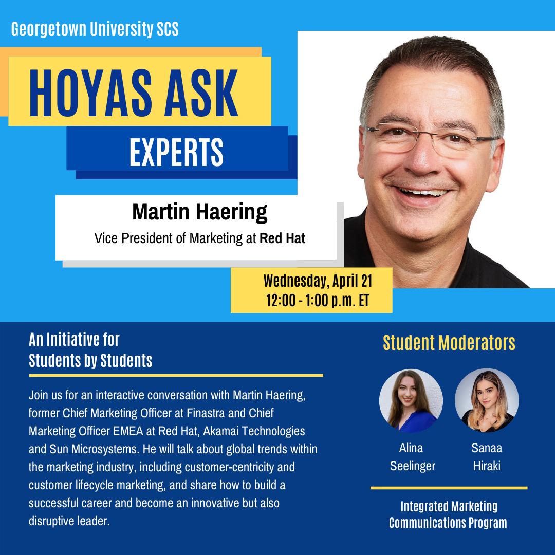 Hoyas Ask Experts