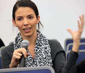 Denise Keyes, senior associate dean, explaining survey concepts