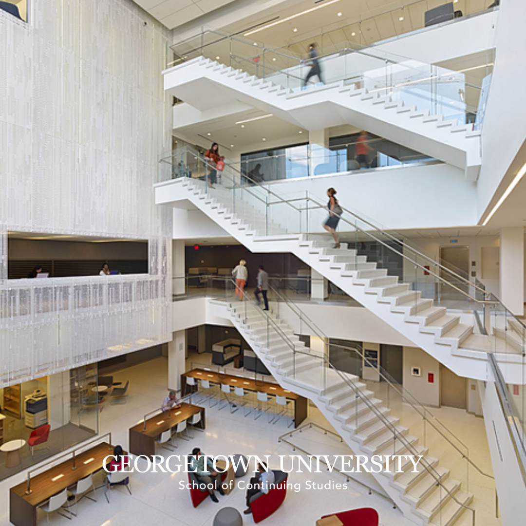 SCS atrium with stairway