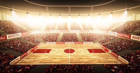 March Madness basketball court