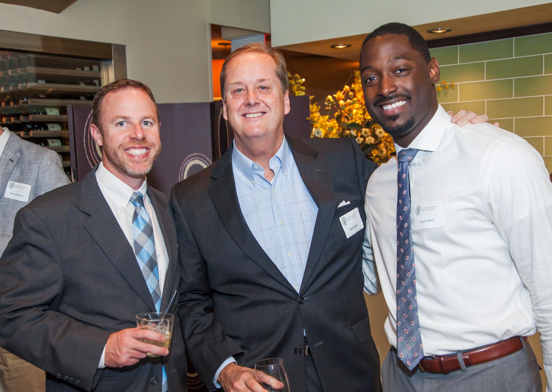 Stuart Levy, Faculty Member Stu Damon, and Jamel Riley